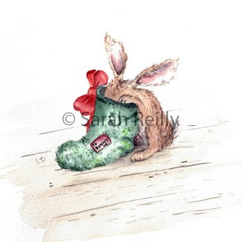 Bunny Slipper by Sarah Reilly Suffolk Artist Love Country by Sarah Reilly