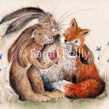 Woodland Friends by Sarah Reilly, Suffolk Artist, Love Country by Sarah Reilly
