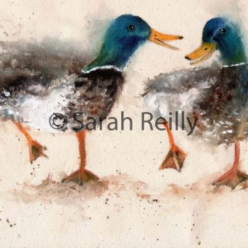 Catching up with the Gossip by Sarah Reilly, Suffolk Artist, Love Country by Sarah Reilly