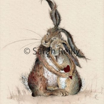 Hares my Heart by Sarah Reilly, Suffolk Artist, Love Country by Sarah Reilly