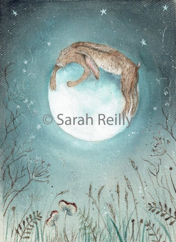 Hugging the Moon by Sarah Reilly, Suffolk Artist, Love Country by Sarah Reilly