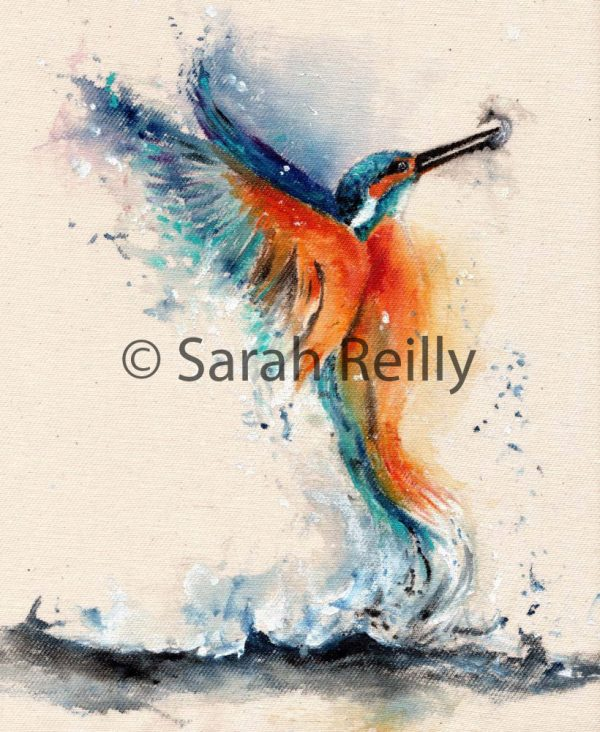 Kingfisher by Sarah Reilly, Suffolk Artist, Love Country by Sarah Reilly
