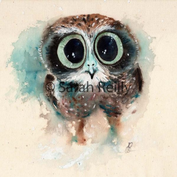 Little Night Owl by Sarah Reilly, Suffolk Artist, Love Country by Sarah Reilly