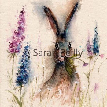 Munching in the Flower Garden by Sarah Reilly, Suffolk Artist, Love Country by Sarah Reilly