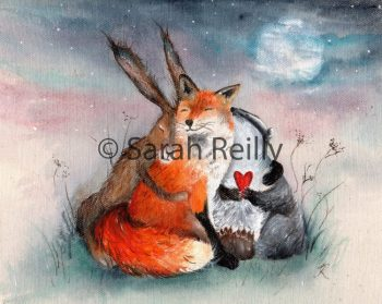 Peace Huggles by Sarah Reilly, Suffolk Artist, Love Country by Sarah Reilly