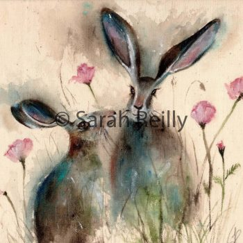 Pink Poppy Love by Sarah Reilly, Suffolk Artist, Love Country by Sarah Reilly