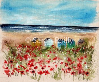 Seaside Poppies by Sarah Reilly, Suffolk Artist, Love Country by Sarah Reilly