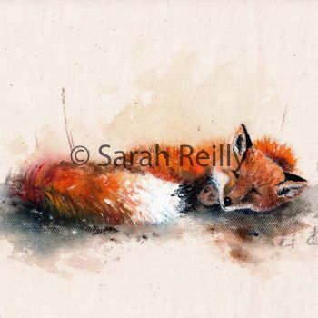 Sleepy Mr Fox by Sarah Reilly, Suffolk Artist, Love Country by Sarah Reilly