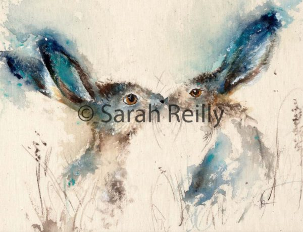 Tickly Kisses by Sarah Reilly, Suffolk Artist, Love Country by Sarah Reilly
