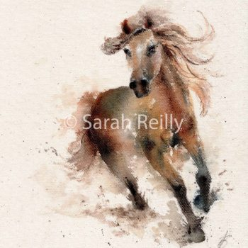 Wind in Her Hair by Sarah Reilly, Suffolk Artist, Love Country by Sarah Reilly