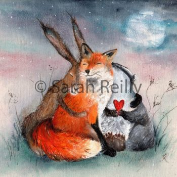 Peace & Huggles by Sarah Reilly, Artist, Love Country