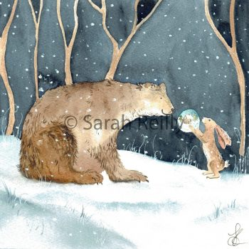 The Bear and the Hare by Sarah Reilly Suffolk Artist Love Country by Sarah Reilly