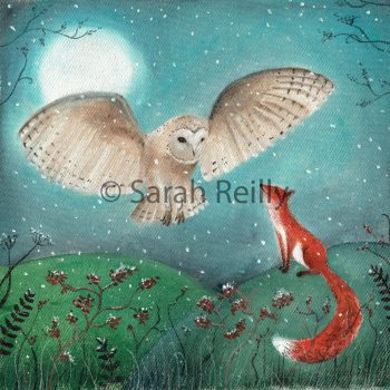 The Owl and the Fox by Sarah Reilly Suffolk Artist Love Country by Sarah Reilly