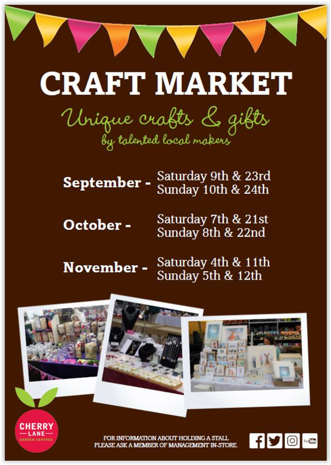 Visit Sarah on her Artwork Stall at the Autumn Craft Markets in Great Yarmouth