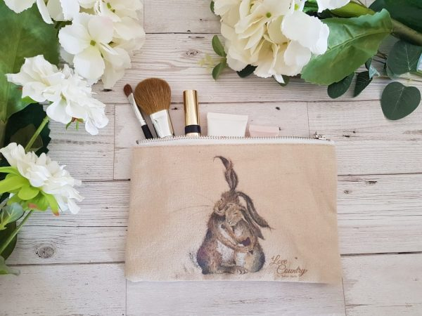 Hares my Heart Cosmetic Case by Sarah Reilly
