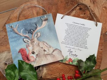 Christmas Cuddles Wooden Forever Card