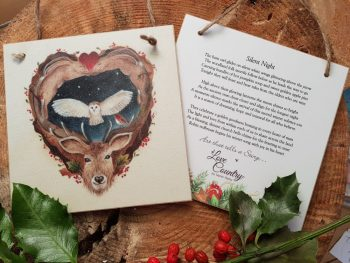 Silent Night Wooden Forever Card