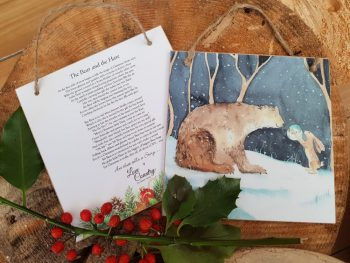 The Bear and The Hare Wooden Forever Card