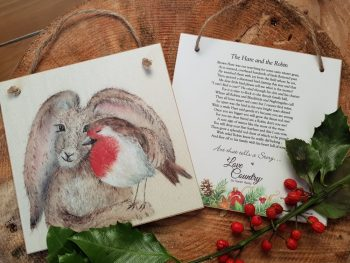 The Hare and The Robin Wooden Forever Card