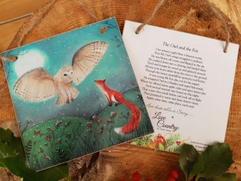 The Owl and The Fox Wooden Forever Card