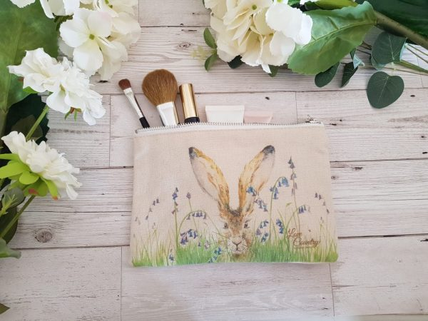 Curious Hare Cosmetic Case by Sarah Reilly