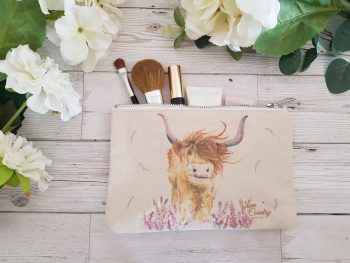 Highland Harriett Cosmetic Case by Sarah Reilly