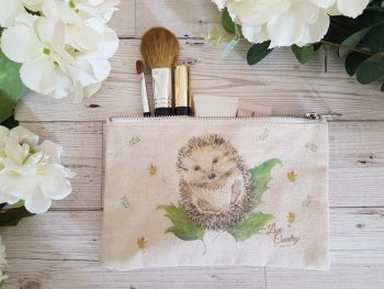 Mr Prickles Hedgehog Cosmetic Case by Sarah Reilly